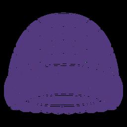 Wool hat silhouette