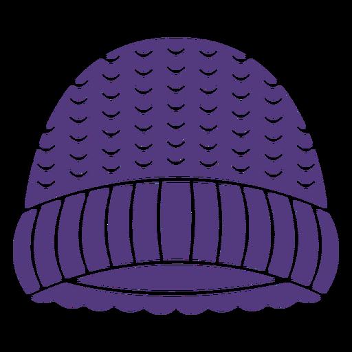 Silueta de sombrero de lana