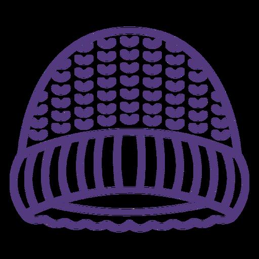 Wool hat stroke