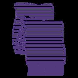 Silueta de bufanda de lana