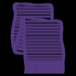 Wool scarf stroke