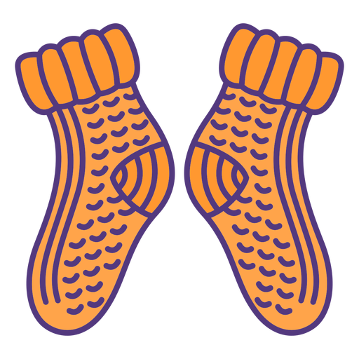 Wool socks colored
