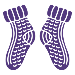 Wool socks silhouette