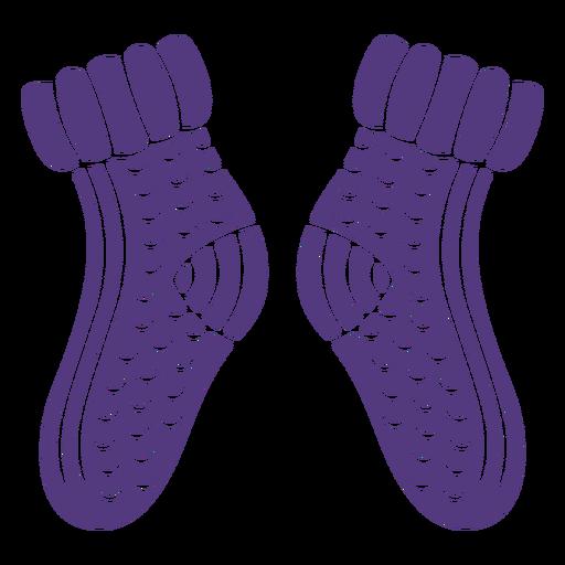 Silueta de calcetines de lana