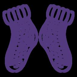 Trazo de calcetines de lana