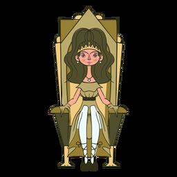 Trono de princesa impresionante