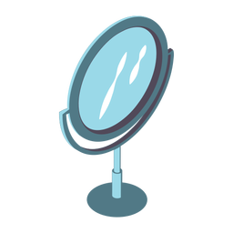 Beauty mirror isometric