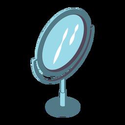 Espelho de beleza isométrico