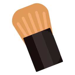 Cepillo de rubor plano