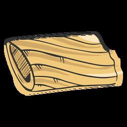 Pasta coloreada dibujada