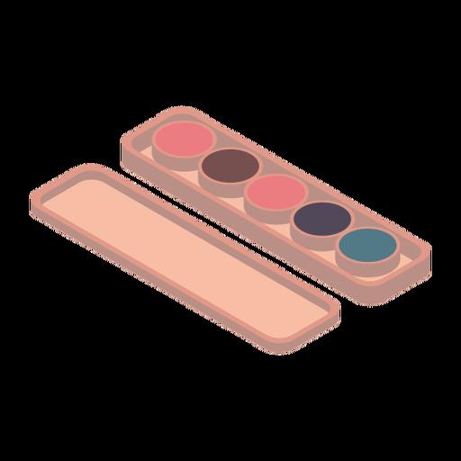 Concealer palette isometric