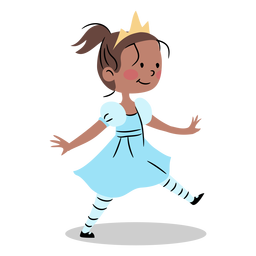 Genial princesa caminando