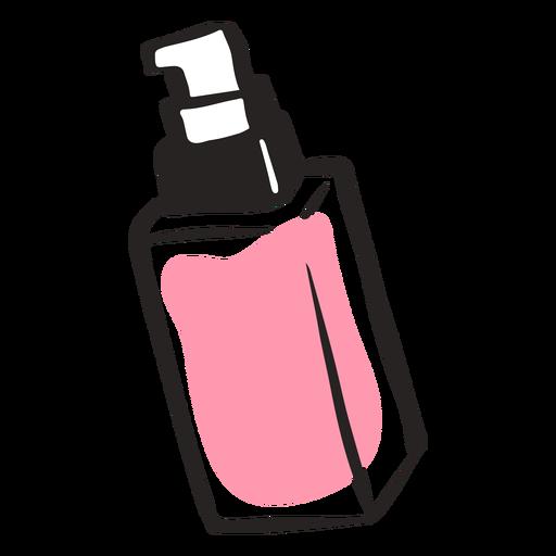 Cute beauty bottle hand drawn