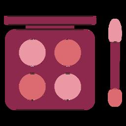 Cute eyeshadow palette with brush