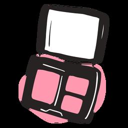 Cute hand drawn eyeshadow palette