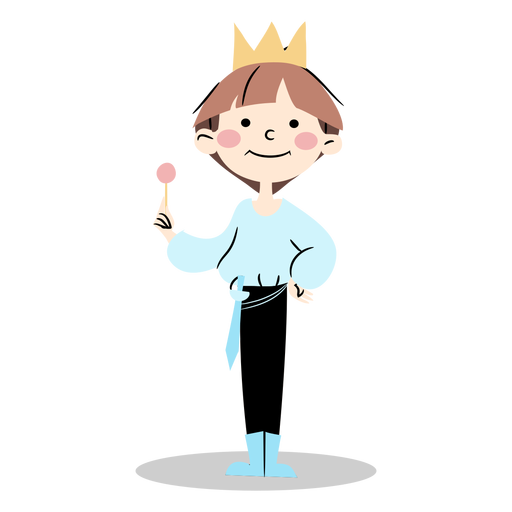 Cute prince standing