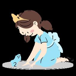 Linda princesa con rana