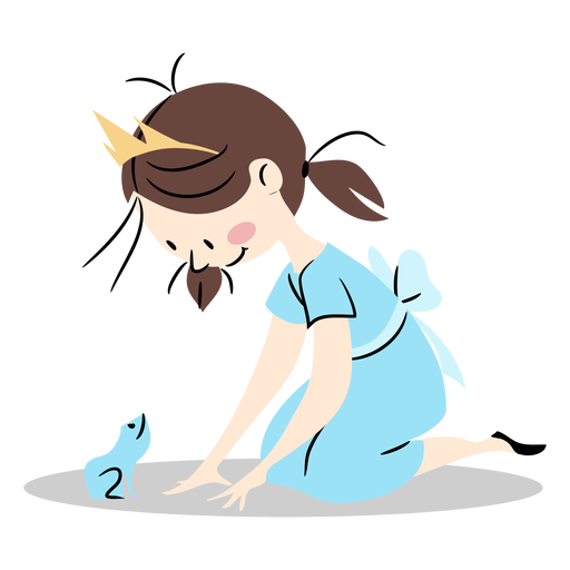 Cute princess with frog