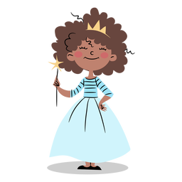 Cute princess with wand