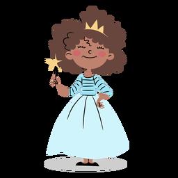 Princesa fofa com varinha