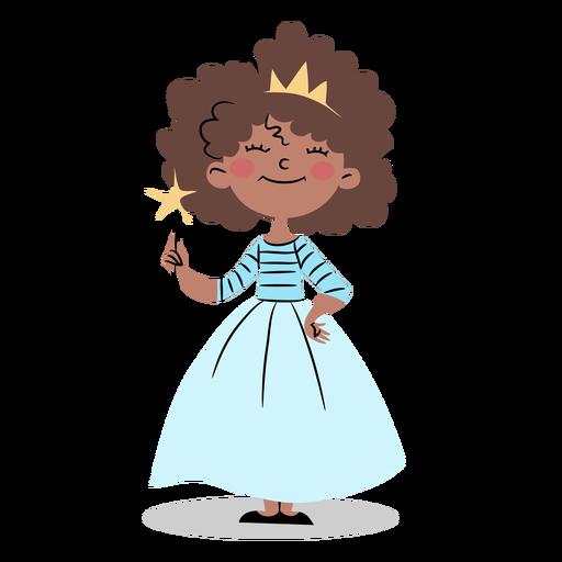 Cute princess with wand