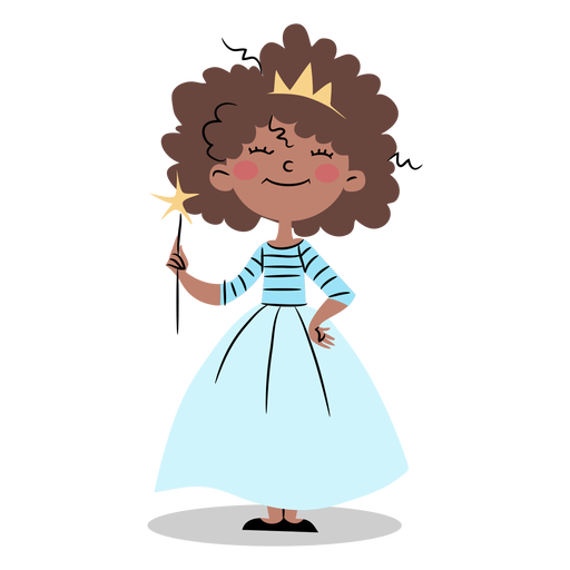 Linda princesa con varita