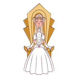 Elegante trono de princesa