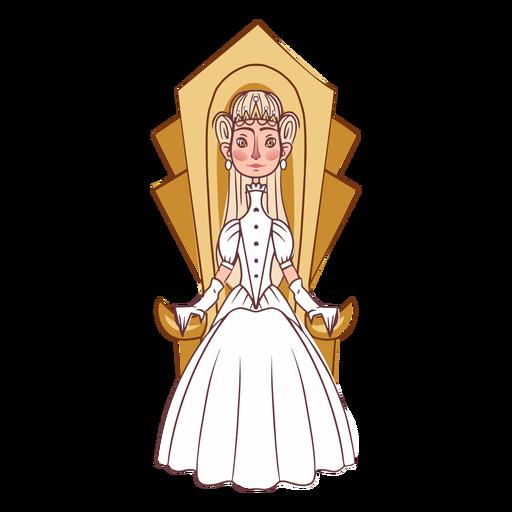 Elegant princess throne Transparent PNG