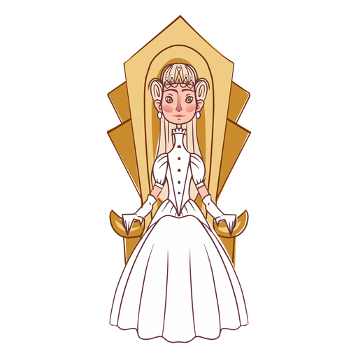 Elegant princess throne