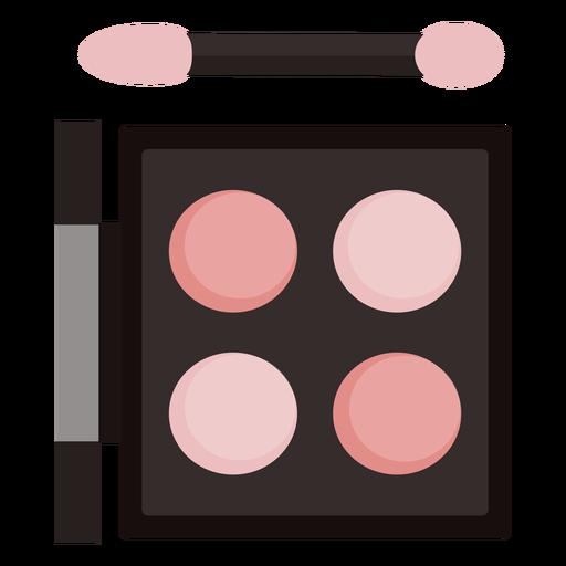 Paleta de sombra de ojos plana con pincel