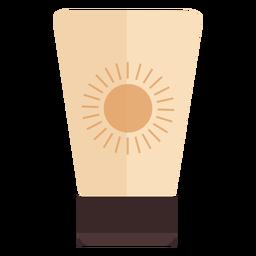 Recipiente protector solar plano