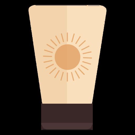 Envase de protección solar plano