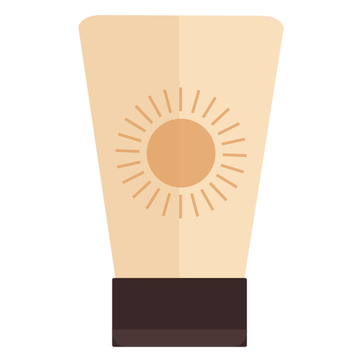 Flat sunscreen container