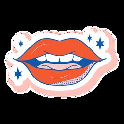 Pegatina boca entreabierta