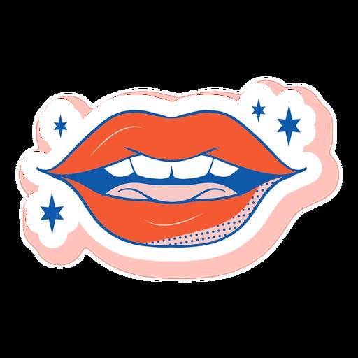 Adesivo de boca entreaberta