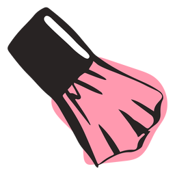 Hand drawn cheek blush brush