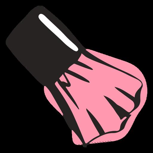 Hand drawn cheek blush brush