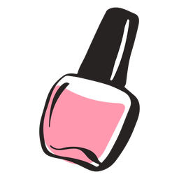 Hand drawn colored nail polish