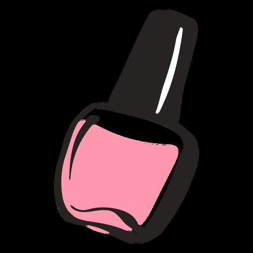 Hand drawn colored nail polish