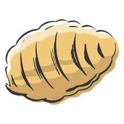 Hive shaped pasta drawn