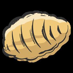 Pasta en forma de colmena dibujada