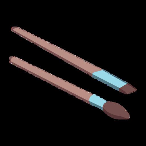 Makeup brushes isometric