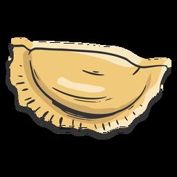 Bola de masa de pasta en forma dibujada