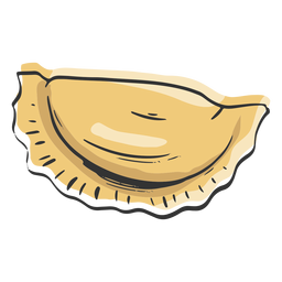Pasta dumpling shaped drawn