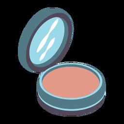 Pretty compact powder isometric