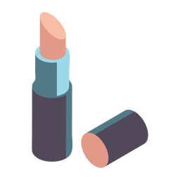 Pretty lipstick isometric