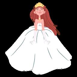 Bonito vestido de novia princesa
