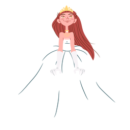 Pretty princess wedding gown