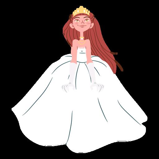Pretty princess wedding gown Transparent PNG