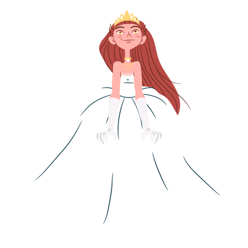 Pretty princess wedding gown